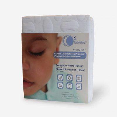 Quilted Crib Mattress Protector - Eucalyptus Fibers (Tencel)