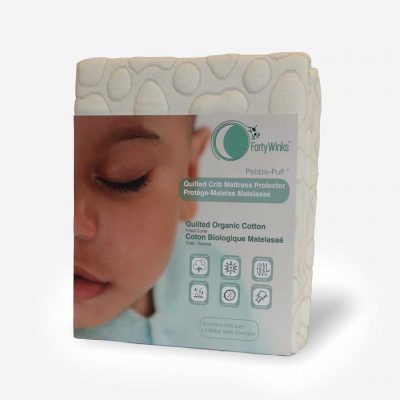 Quilted Crib Mattress Protector - Organic Cotton