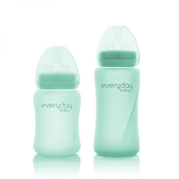 everyday-baby-mint-green--silicone-coated-glass-bottles-pjm-distributions-150-240-mm